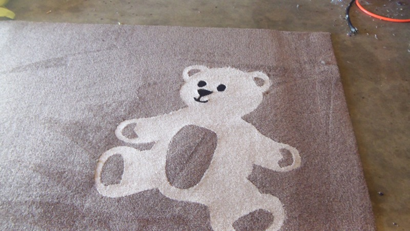 Charming Teddy Bear Rugs. The One Pictured Plus One With The Colors Reversed. These 2